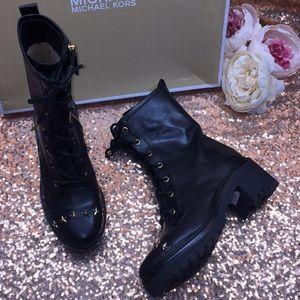 Michael Kors Star Studded Combat Boots 5M